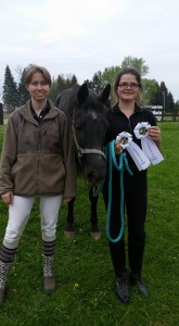 Couple of 4th place ribbons for Cassidy's 1st show